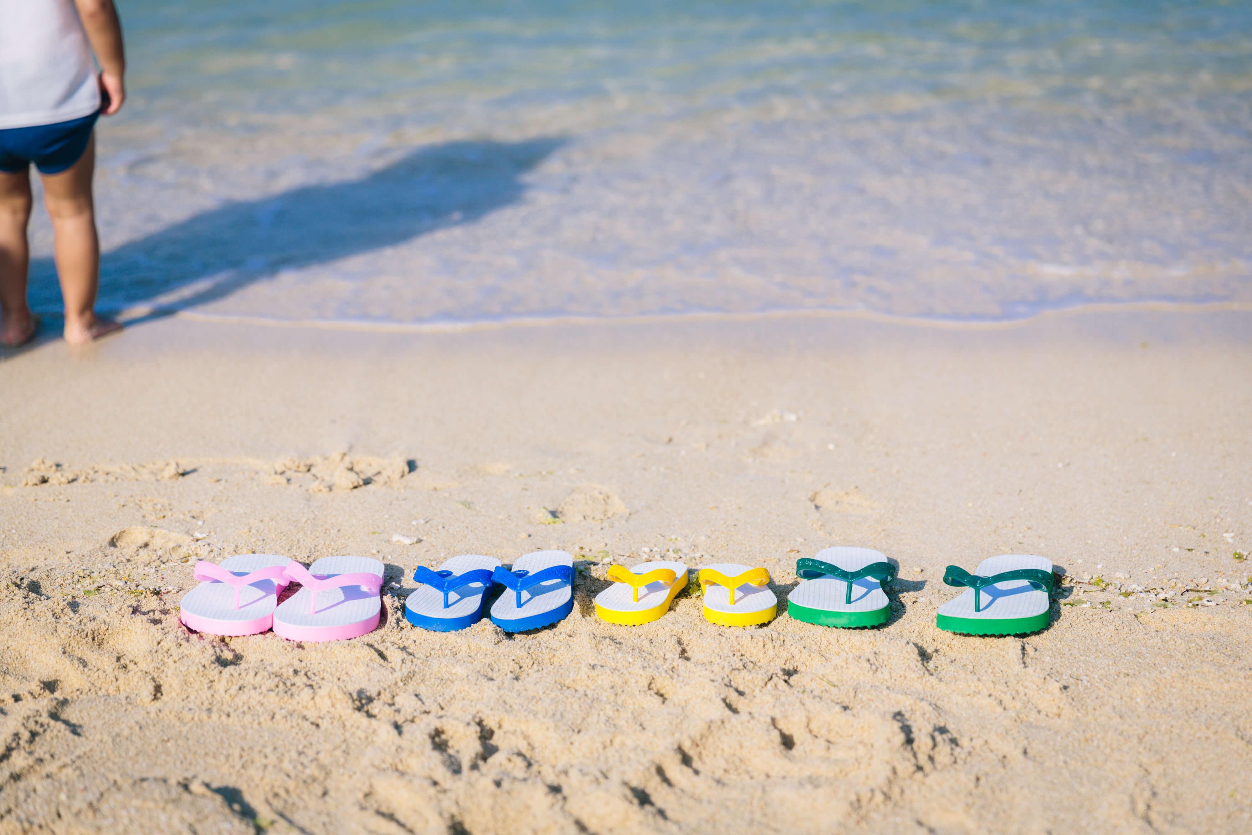 浜辺のビーチサンダル