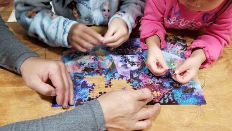 家族でパズル