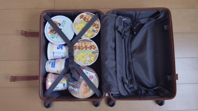 海外旅行にカップ麺